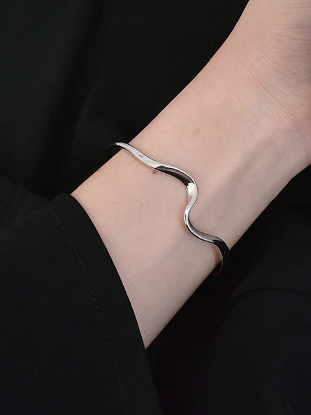 Fashion Wave Open Bracelet