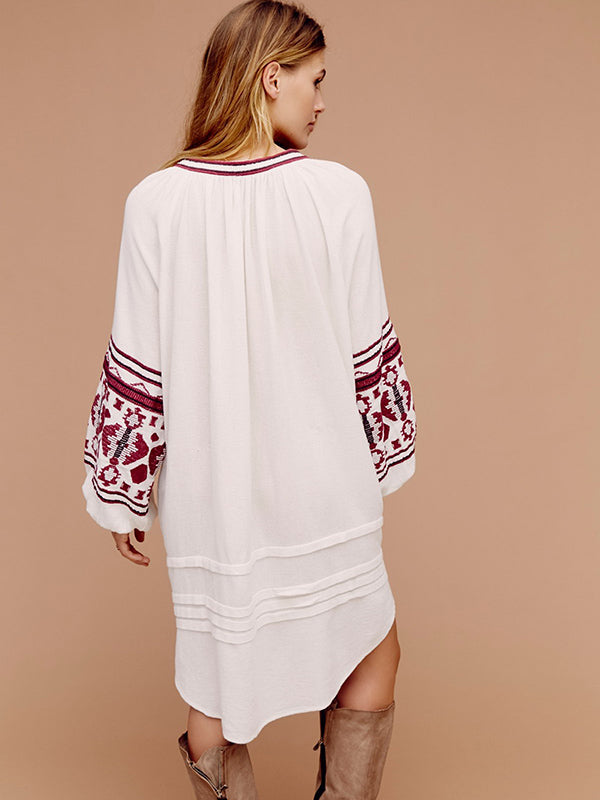 National Embroidered Mini Dress