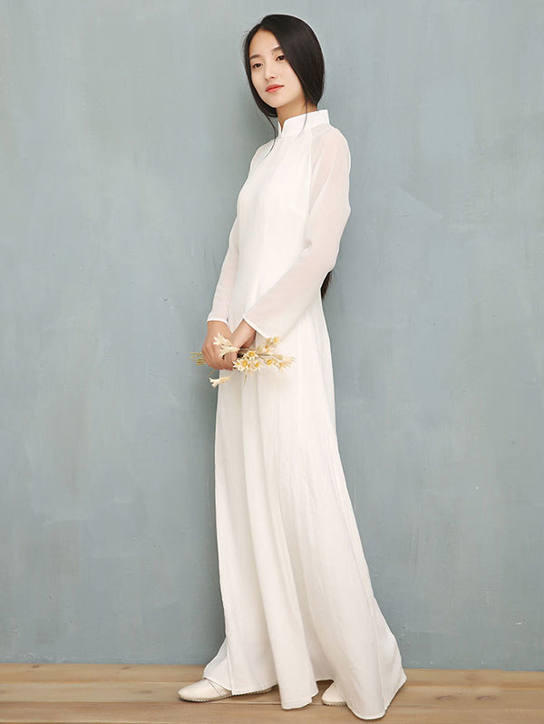 Split-side Long Ao Dai Cheongsam Dress