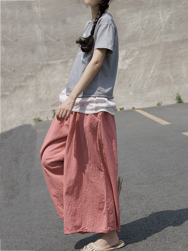Loose Comfortable Deep Pink Pants