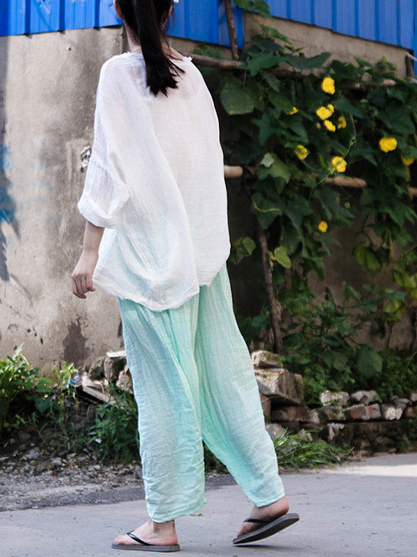 Loose Comfortable Pure Cotton&Color Pants