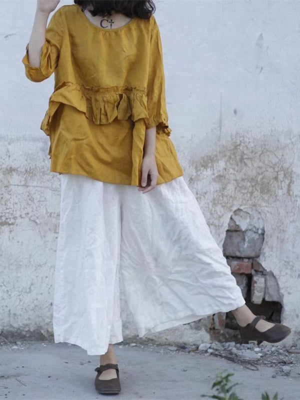 Super Loose Linen Cotton Pants