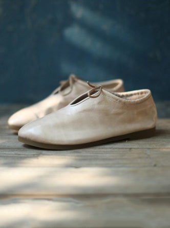 The new Lace-up Genuine leather Comfortable Shoes