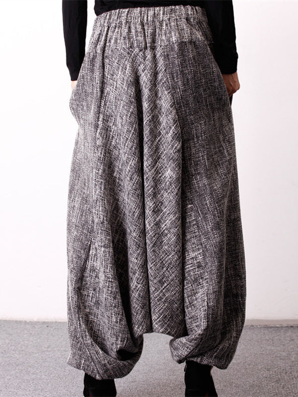 Loose Ramie Cotton Culottes Linen Harem Pants