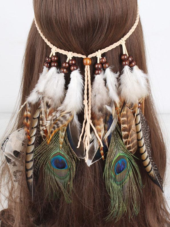 Gypsy Peacock Feathers Headwear