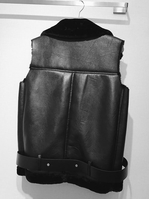 Warmer Faux Leatherette Vest