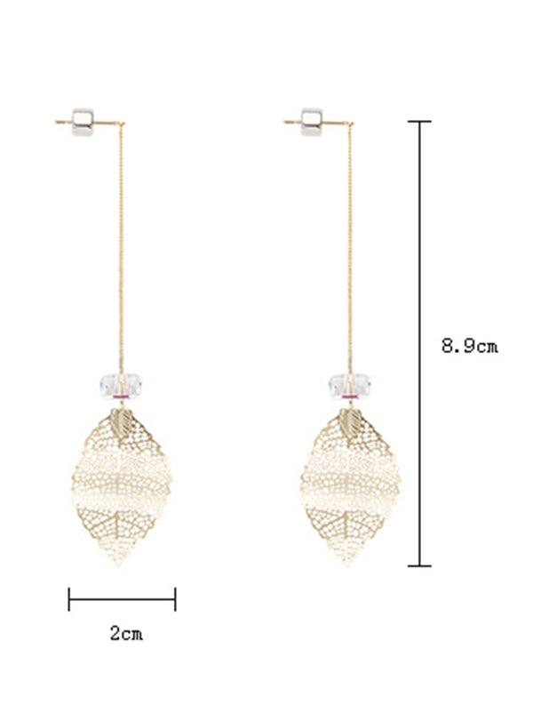 Simple Fresh Leaf Long Earring