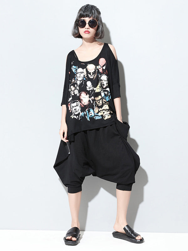 Loose Short Harem Pants