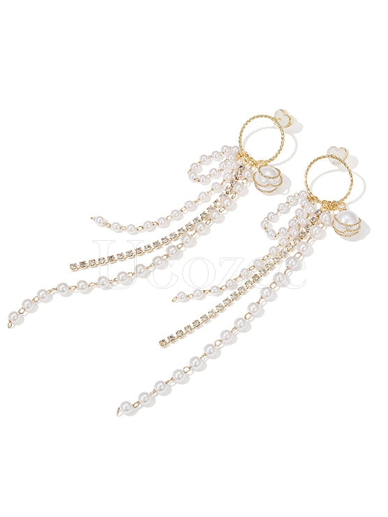 Original Sparkling Tasseled Designed Earrings