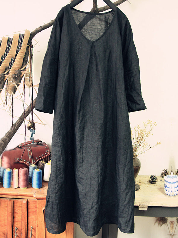 Loose Simple Cozy Style Pure Color Long Robe