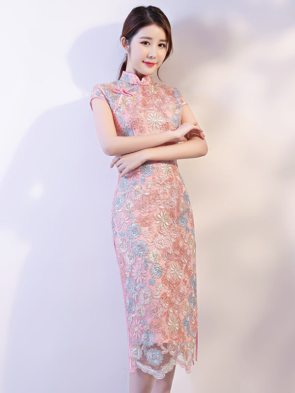 Lace Eugenia Split-side Long Cheongsam