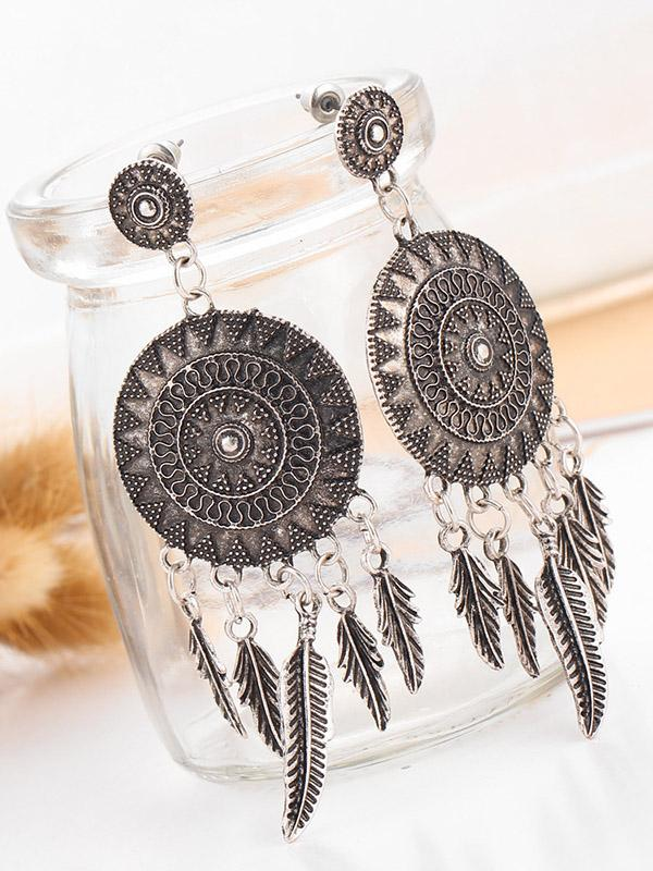 Vintage Tasseled Alloy Earring