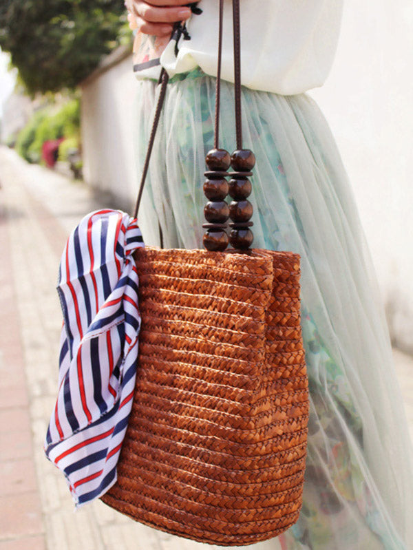 Knitted Cotton-polyester Floral Bag