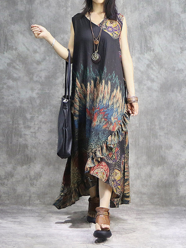 Original Split-joint Oversize Long Dress