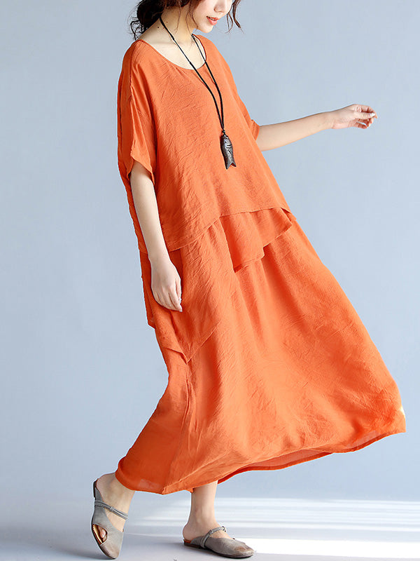 Super Loose Split-joint Long Dress