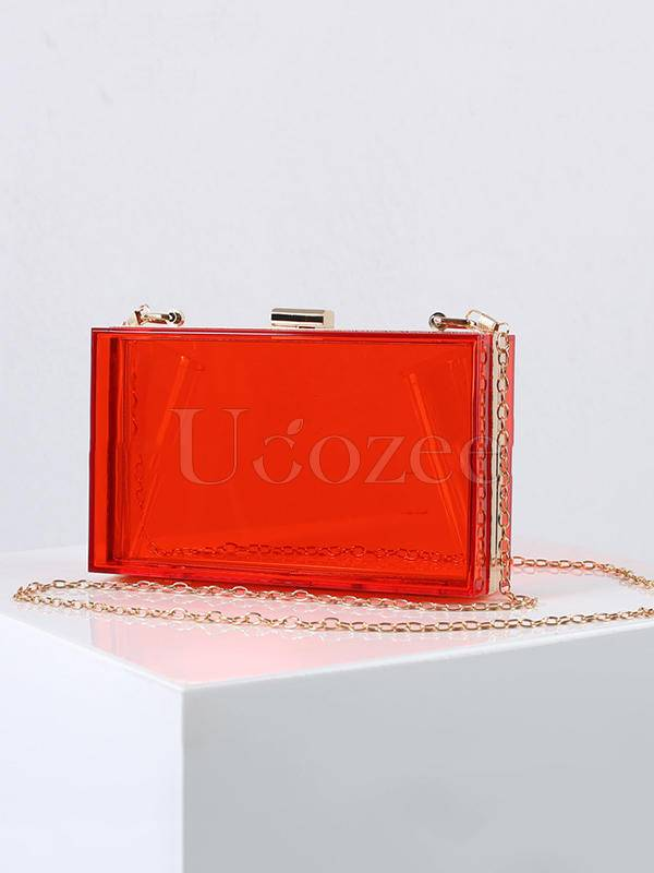 Transparent Acrylic Single Shoulder Chain Bag