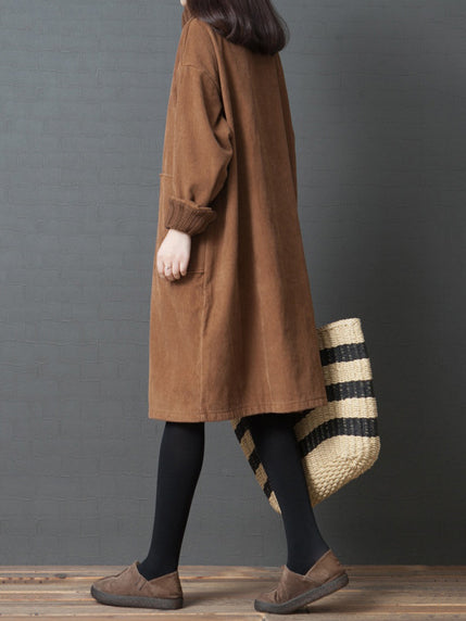 Solid Loose Plus Size Sweater Dress