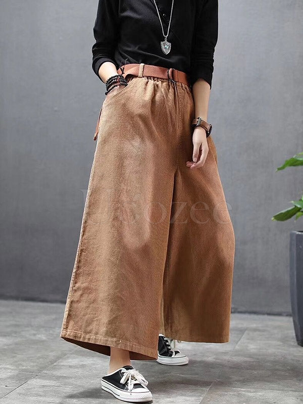browse latest collections uk availability shoes for cheap Loose Wide-leg Corduroy Pants