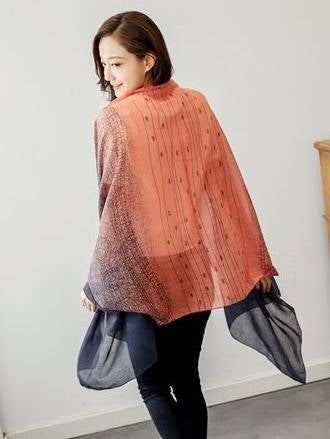 Comfortable Cotton Split-joint Scarf