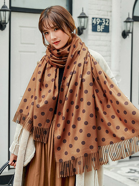 Cute Polka Printed Scarves