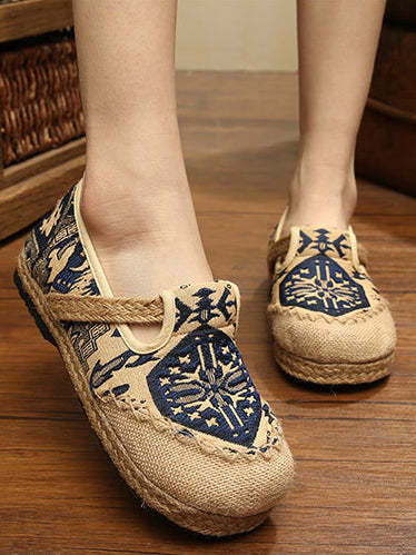 National Style Printed Cotton Shoes
