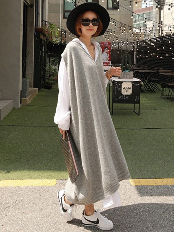 Loose Irregular Lace-up Long Shirt Dress