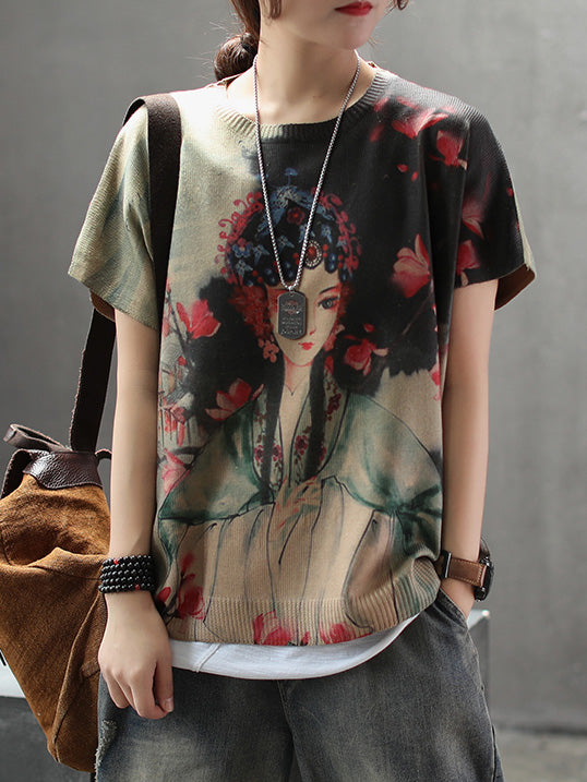 National Printed Comfortable T-shirt