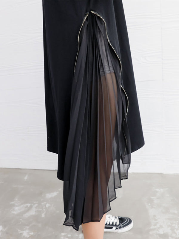 Split-joint Zipper Long Dress