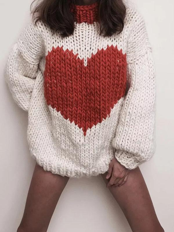 Fashion Knitting Loose Sweater Tops