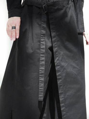 Black Cropped Bandage Cool Pants
