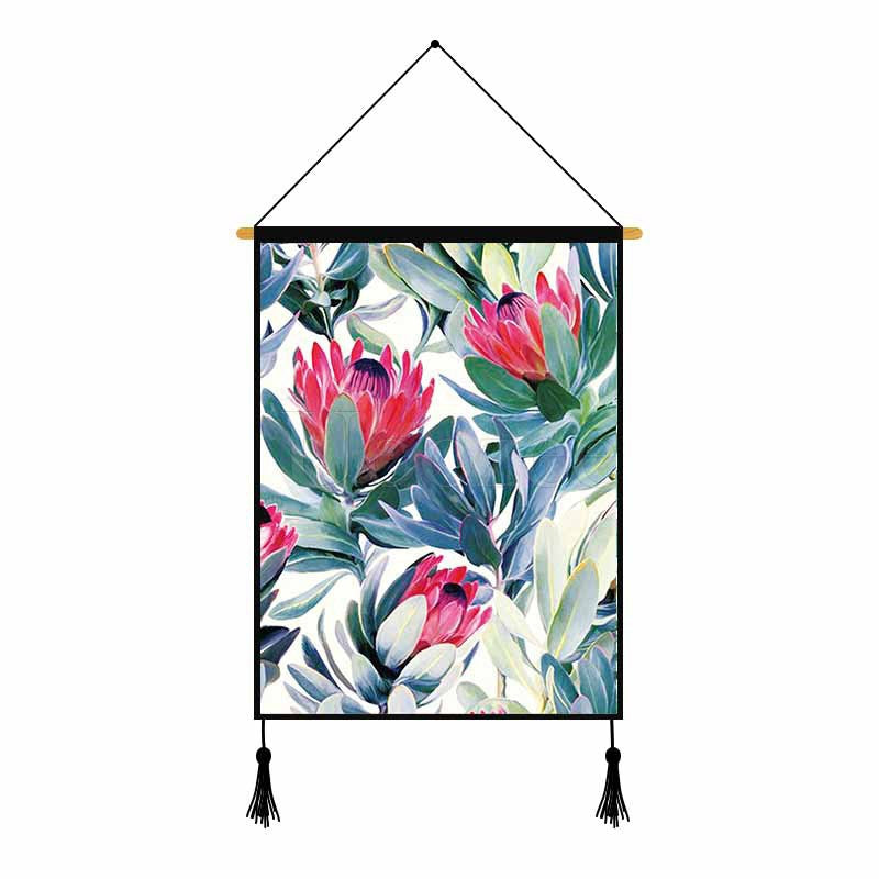 Flower Plants Printed Wall Hanging Decoration