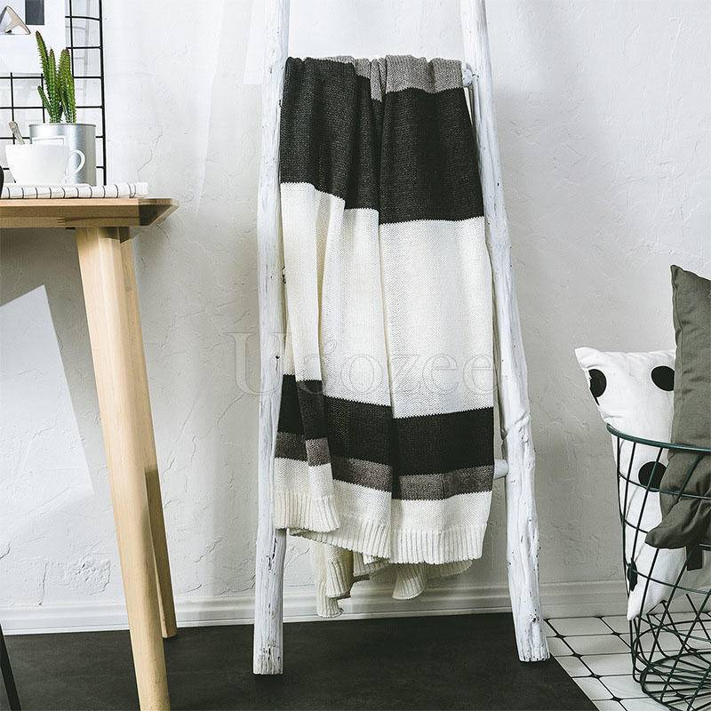 Cotton Striped Knit Blankets