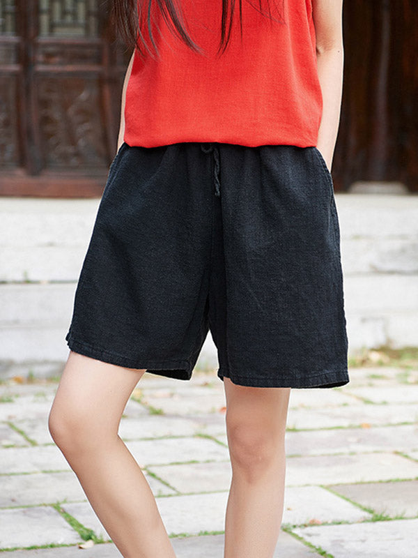 Solid Wide Leg Shorts