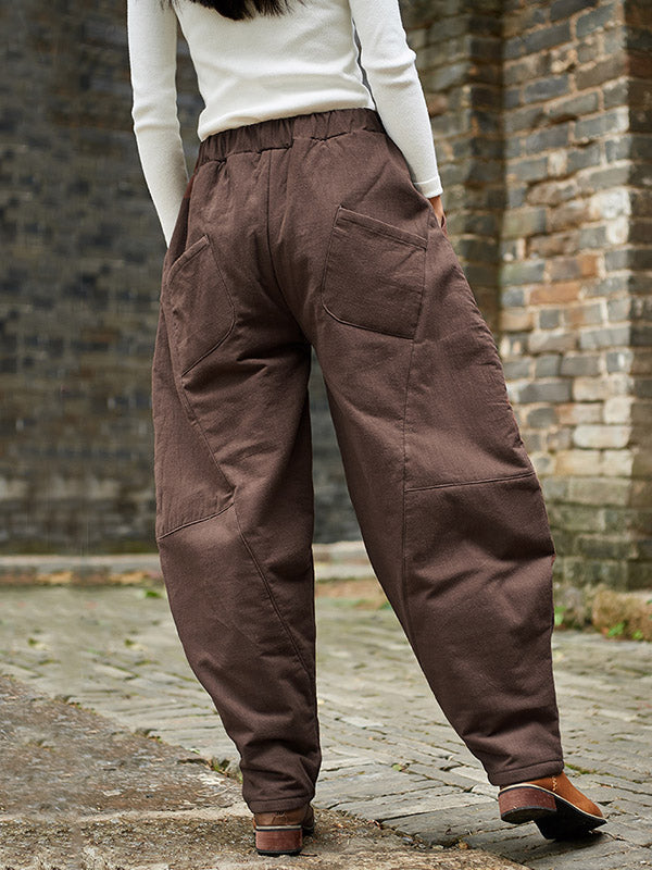 National Style Loose Thicken Bloomer Pants