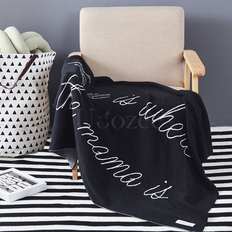 Printed Cotton Knit Blankets