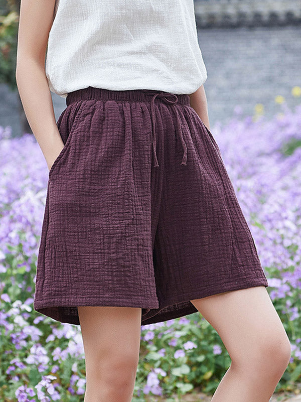 Original Literary Wide Short Pants