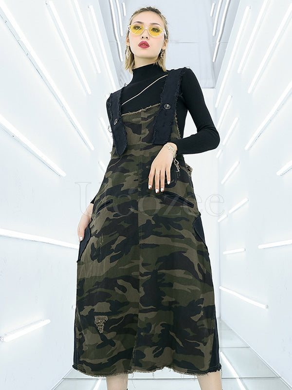 Camouflage Loose Casual Dress