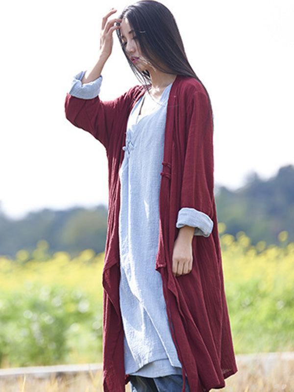 National Style Botton Cotton Cover-up