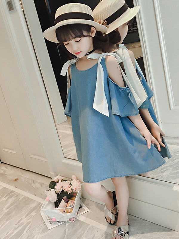 Cowboy Off-the-shoulder Kids Dress