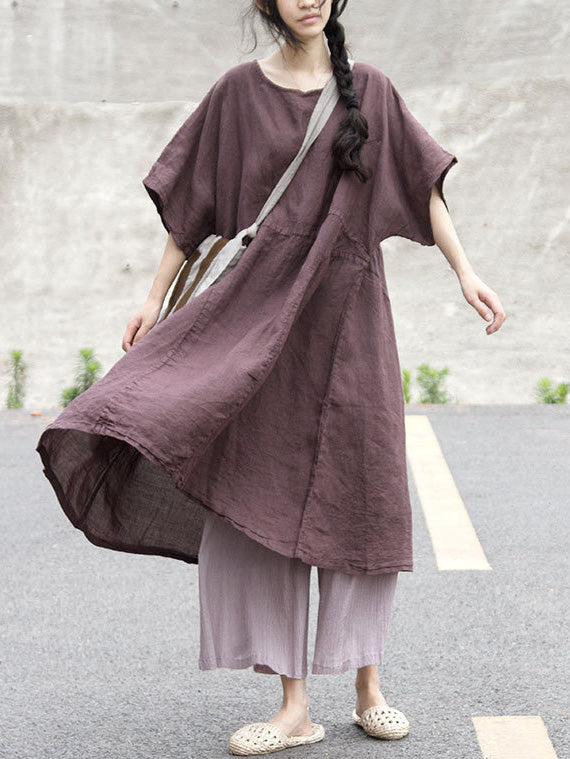 Super Loose Linen Cotton Long Dress