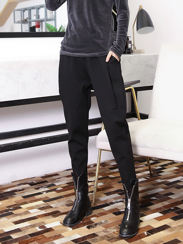 Loose Plus Size Solid Fashion Pants