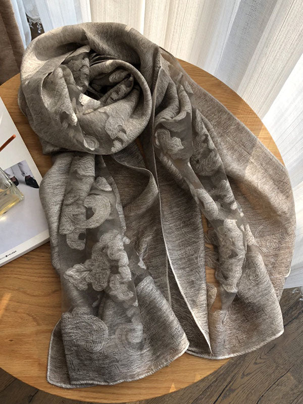 Simple Imitated Silk Fabric Shawl Scarf