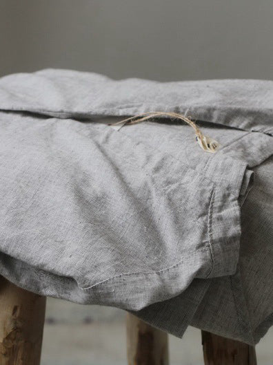 Pure Color Comfortable Linen Cotton Shirt