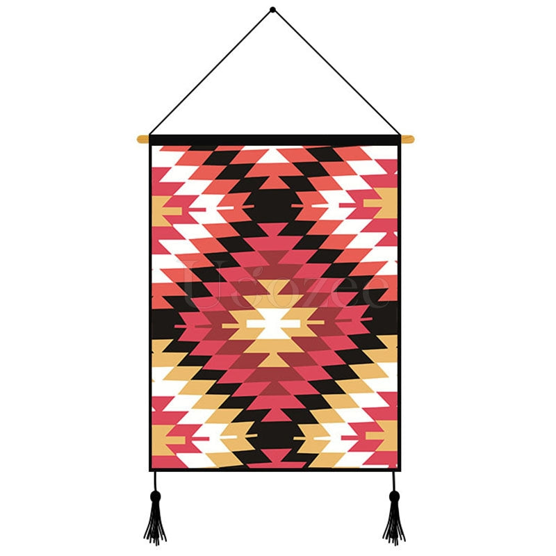 Geometric Pattern Printed Wall Hanging Decoration