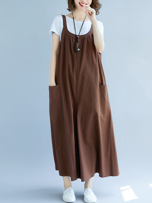 Super Loose Button Jumpsuit