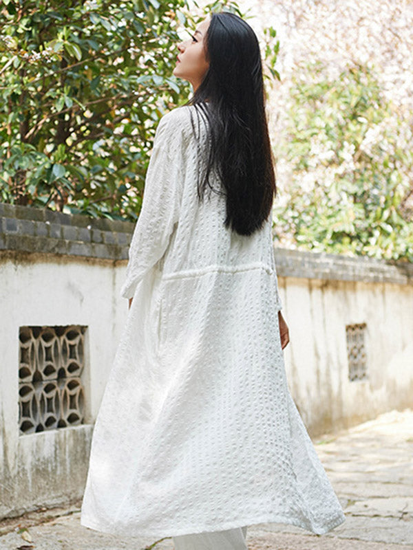 National Cotton Lace-up Light Cover-up
