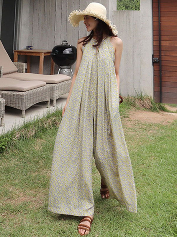 Loose Soft Sleeveless Jumpsuit