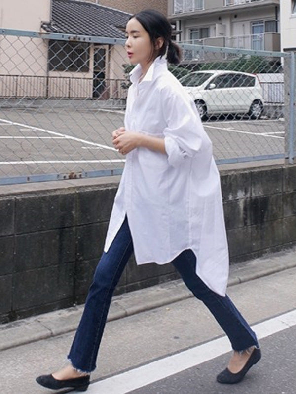 Loose Comfortable BF White Shirt