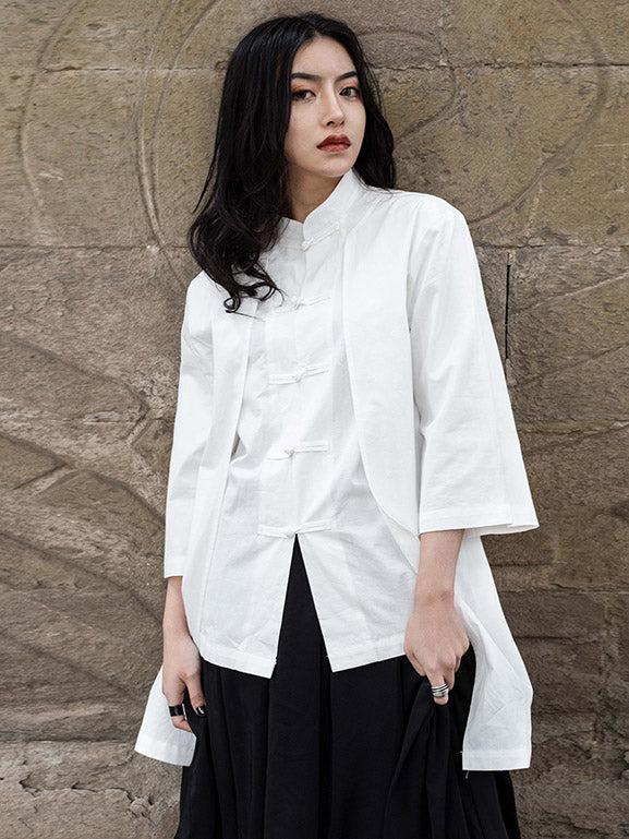 National False Two 3/4 Sleeves Blouse