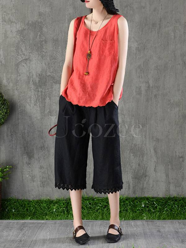 Casual Linen Five Pence Pants